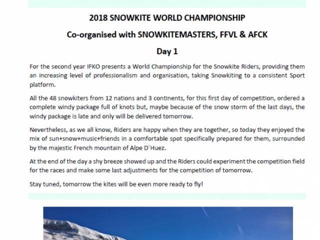 2018 SNOWKITE WORLD CHAMPIONSHIP