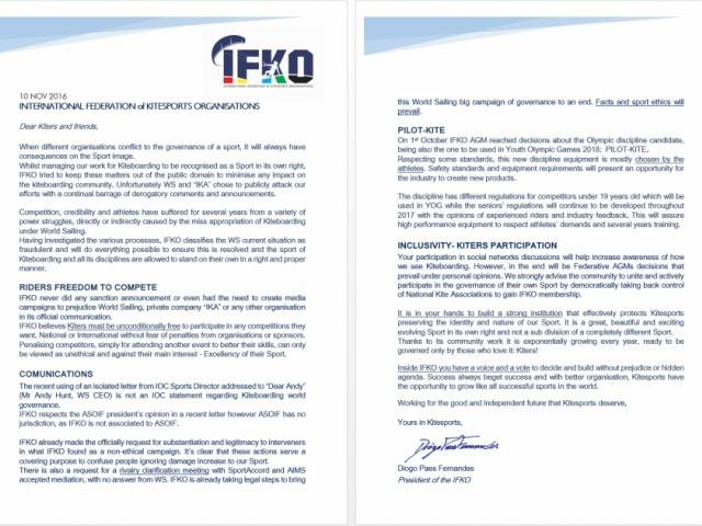 President Letter 10 NOV 2016