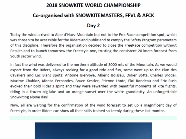 2018 SNOWKITE WORLD CHAMPIONSHIP Day2