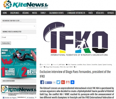 "KiteNews.fr - ""Exclusive interview of Diogo Paes Fernandes, president of the IFKO"""